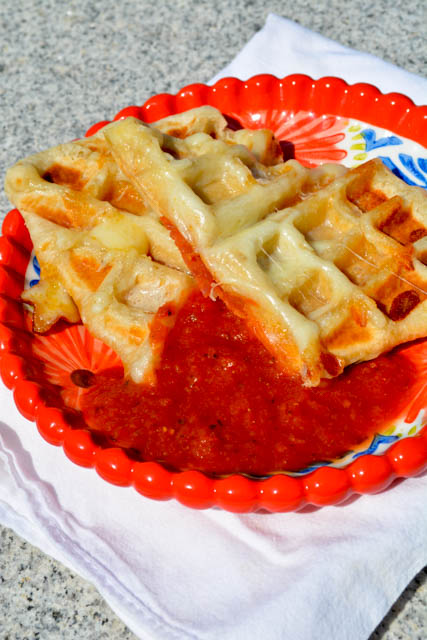 Pepperoni Pizza Pocket Waffles-2