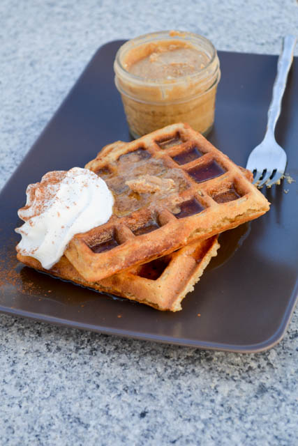 Oatmeal Waffle with Chai Infused Whipped Butter-2