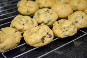 Pumpkin Pie Spice Chocolate Chip Pudding Cookies-10