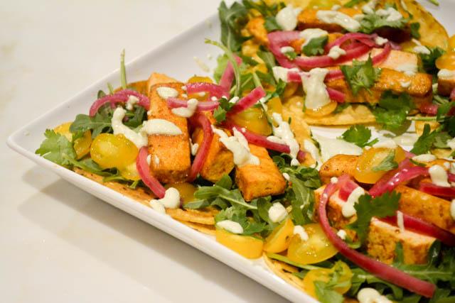 Chipotle Tofu Tacos with Jalapeno Crema-3