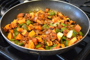 Chorizo and Sweet Potato Breakfast Hash_11