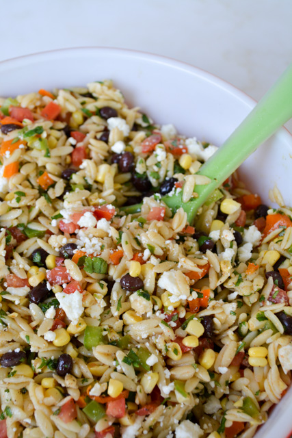 Southwest Orzo Salad with a Cilantro Lime Vinaigrette-4