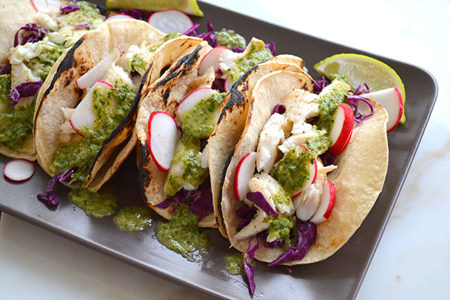 15 minute fish tacos w chimichurri sauce_01