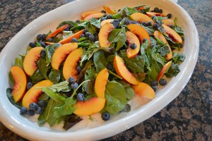 Nectarine and Berry Topped Salad with Pecans and Gorgonzola_06