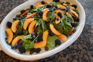 Nectarine and Berry Topped Salad with Pecans and Gorgonzola_07