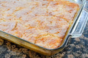 The Laziest Peach Pie Cake-09