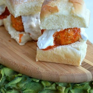 Buffalo Chicken Meatball Sliders
