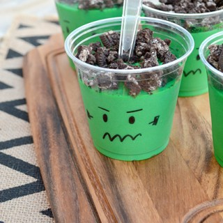 Frankenstein's Monster Pudding Cups