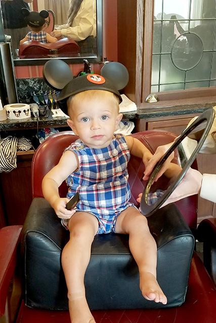 Getting a Haircut at Harmony Barber Shop at Disney World