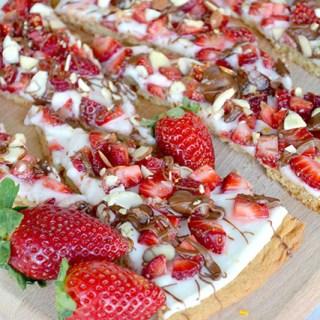 Strawberry Dessert Cookie Pizza