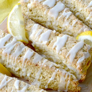 The Best Glazed Lemon Scones