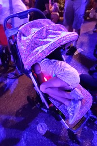 Girl sleeping in Colugo Stroller