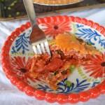 tomato pie on baking pan