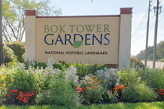Bok Tower Gardens Entrance Sign