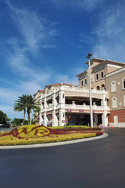 Main entry of Westgate Town Center Resort and VIllas in Kissimmee FL
