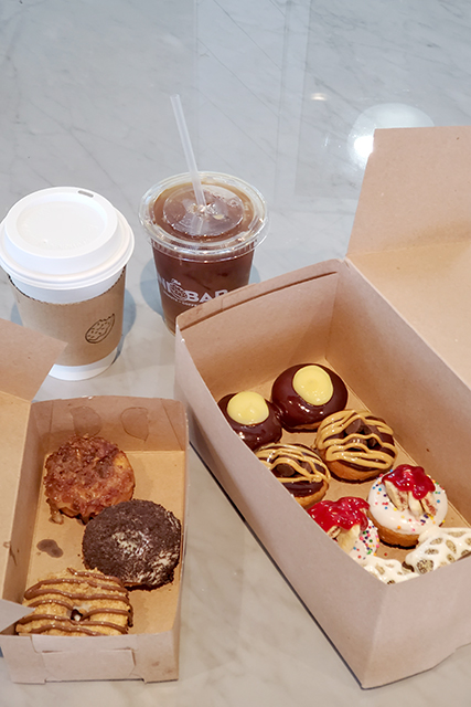 Mini Bar donuts and coffees