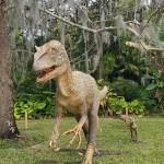 Dinosaur statue at Dinosaur Invasion at Leu Gardens