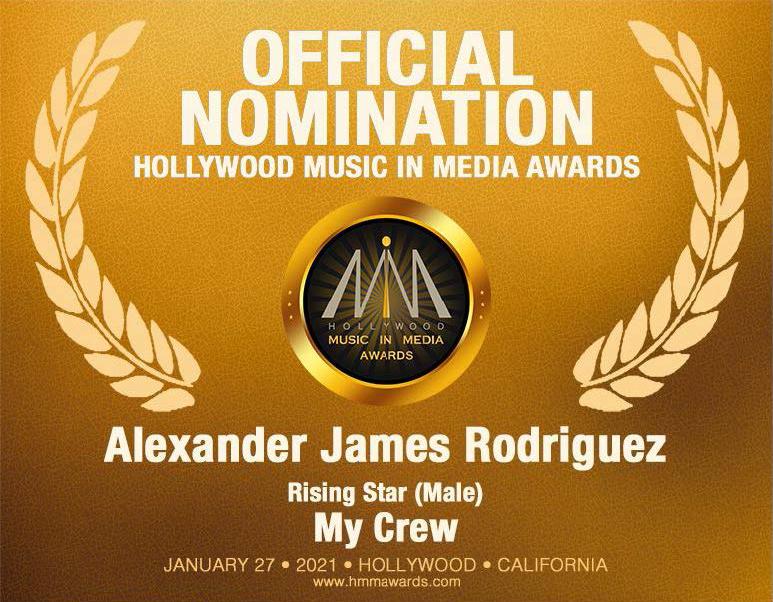 HMMA Rising Star Award Alexander James Rodriguez