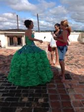A young woman celebrating her quinceañera