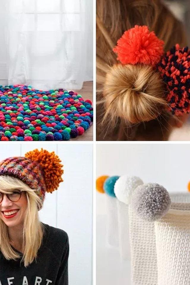 cuatro ideas para hacer con un pompon