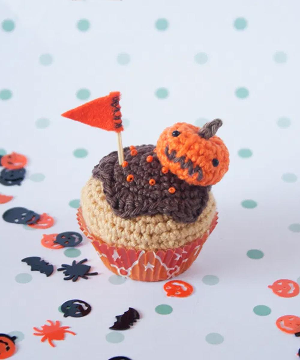 #29 Mini Cupcake de calabaza para halloween