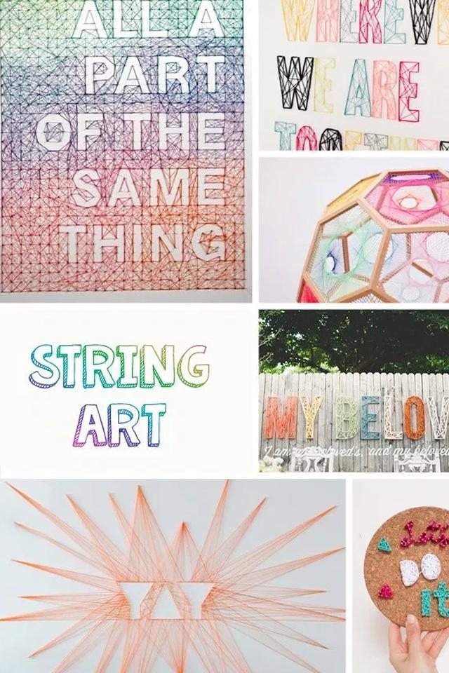DIY: String art