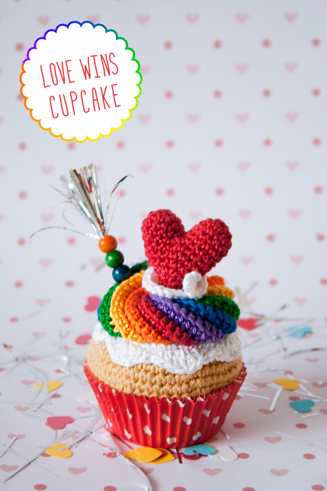 """Love Wins Corchet Cupcake by """"I am a Mess"""""""