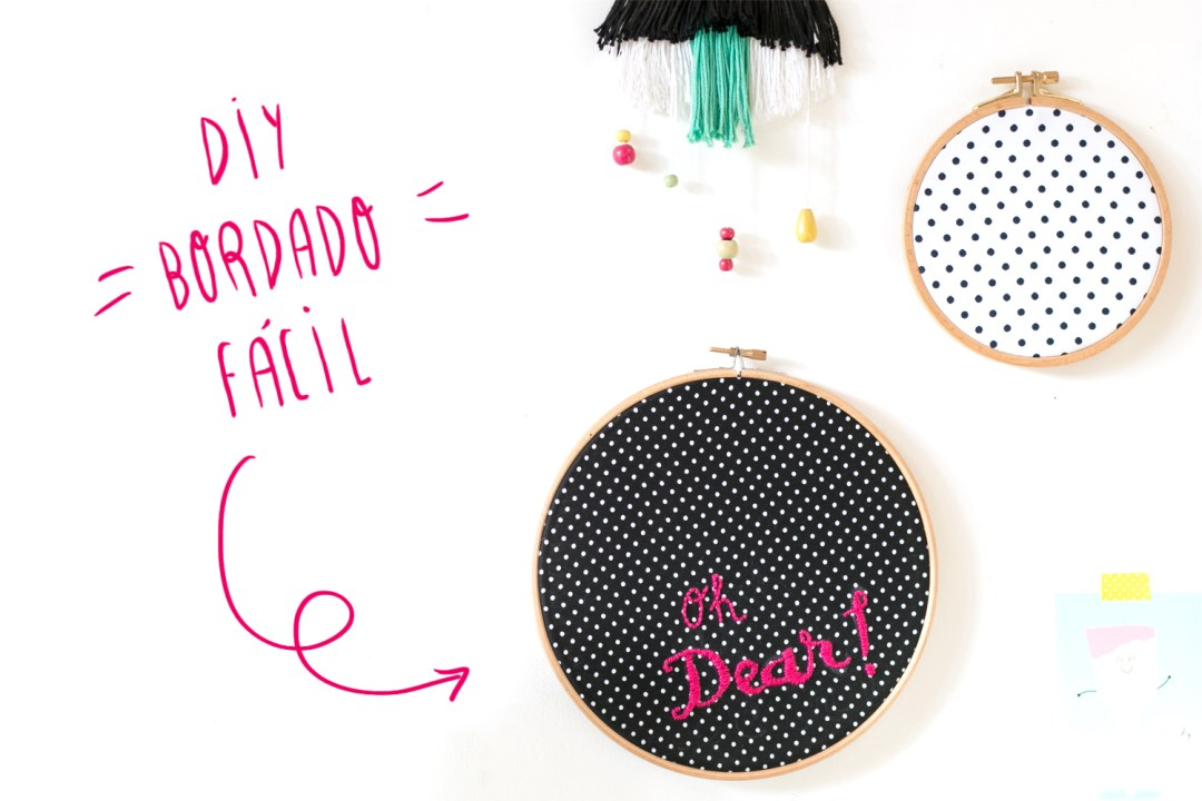 DIY: bordado facil con lettering, visto en IamaMess blog