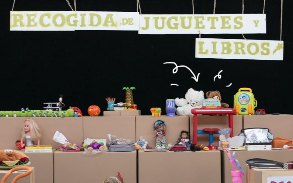 recogida de jugetes en el Recicladero (Madrid)