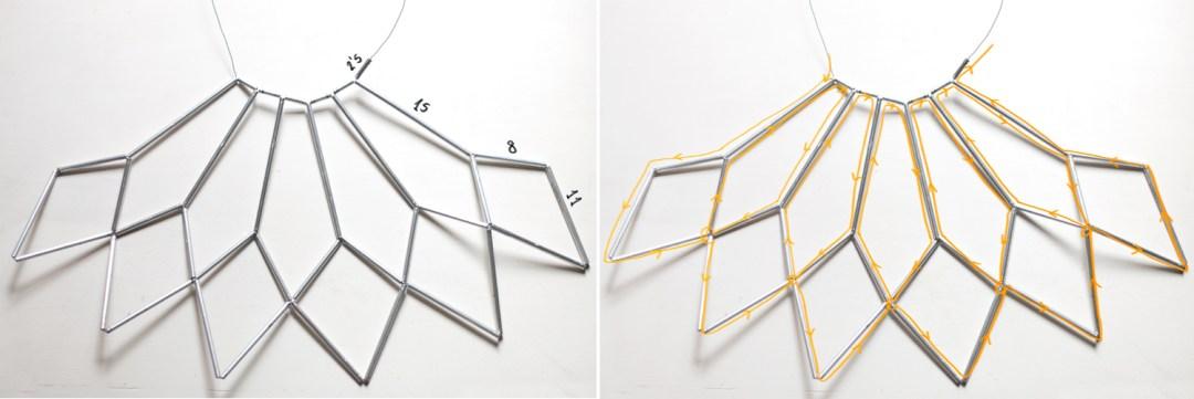 DIY Lámpara geométrica, Paso 02
