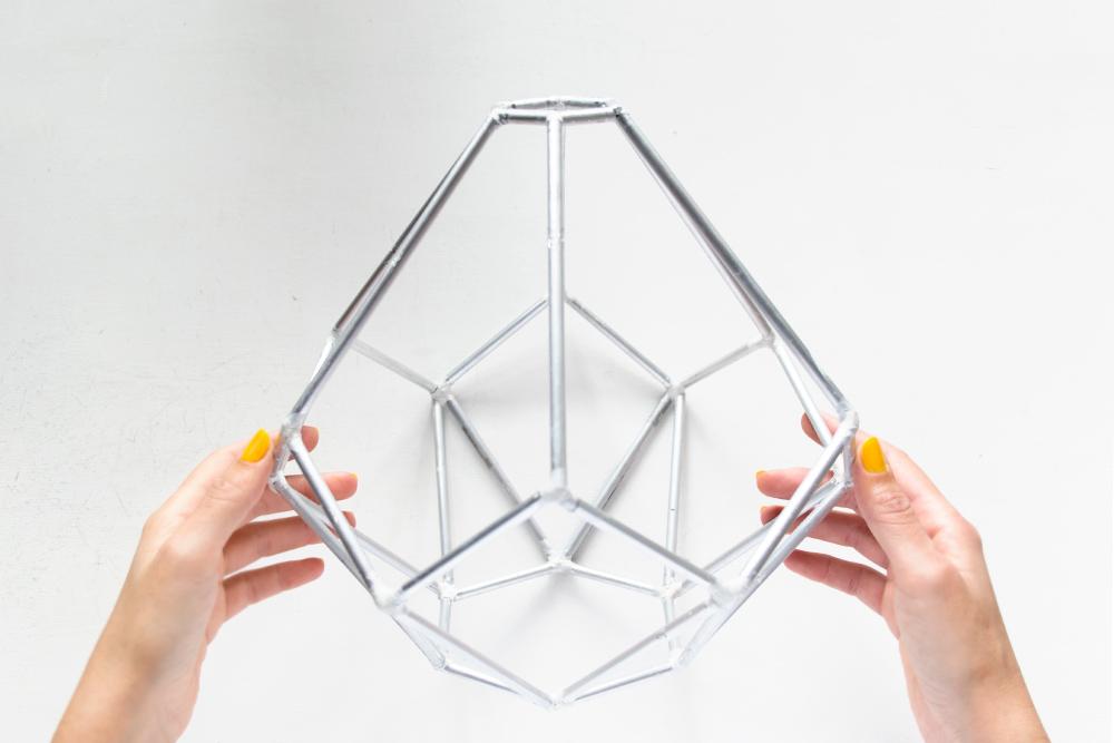 DIY Lámpara geométrica, Paso 06