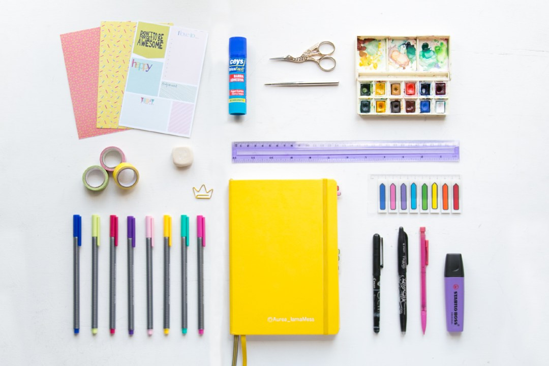 "Imprescindibles para el Bullet Journal, visto en ""I am a Mess Blog"""