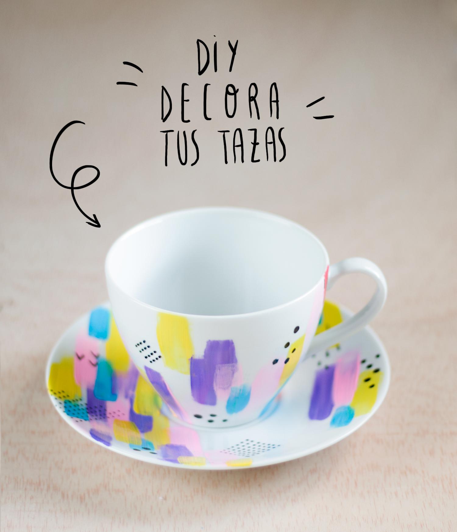 DIY decora tus tazas