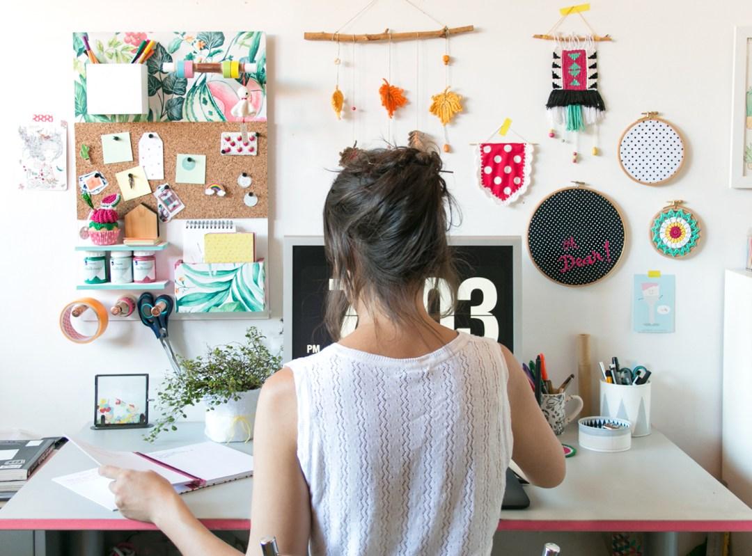 """DIY: Organizador de pared, visto en """"I am a Mess Blog"""""""