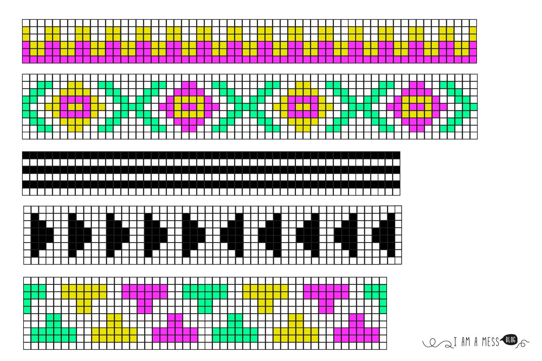 """patrones para tapestry crochet, visto en """"I am a Mess Blog """""""