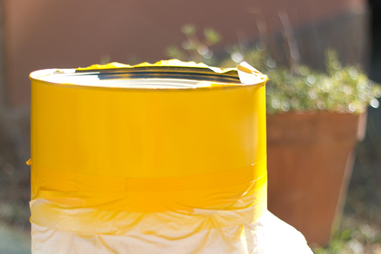 paso 3: Spray amarillo
