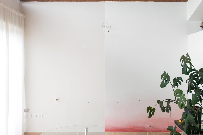 """Pintar pared con degradado, visto en """"I am a Mess Blog"""""""