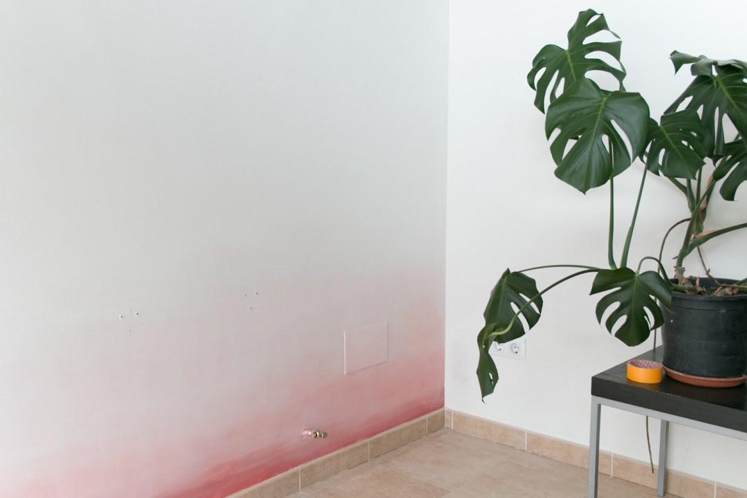 """esquina pared con degradado, visto en """"I am a Mess Blog"""""""