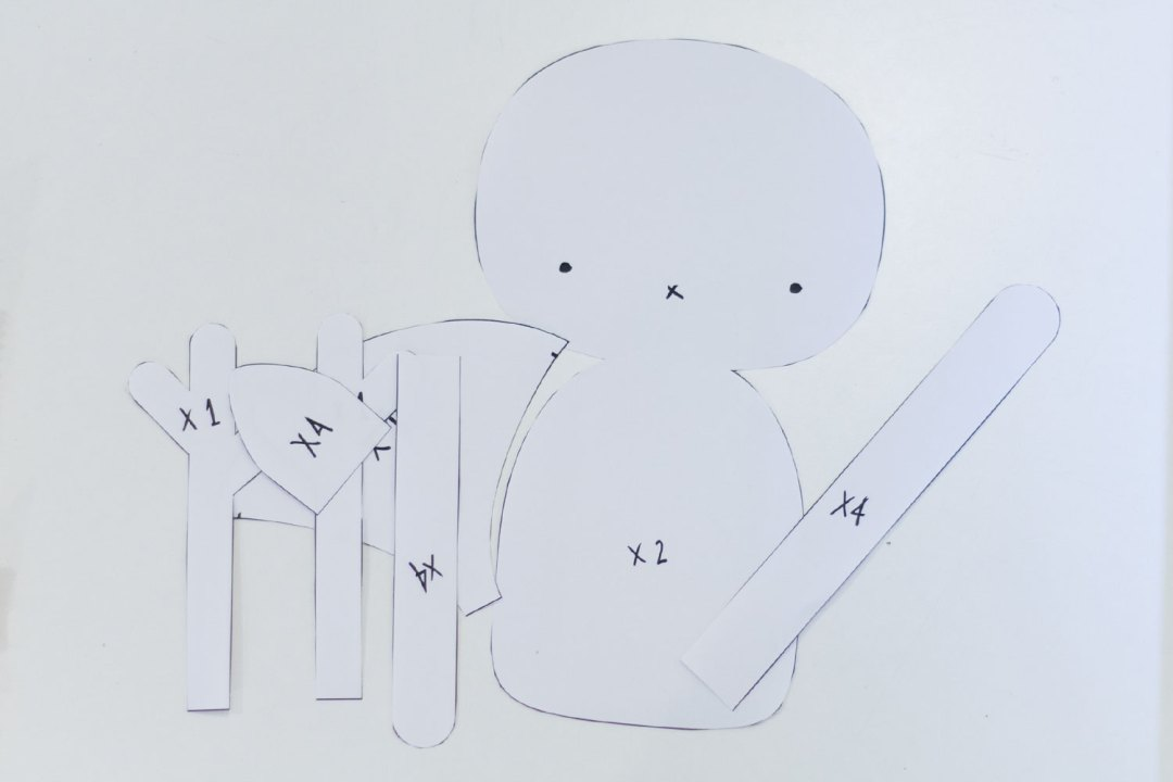 """Muñeco de Trapo DIY - Visto en """"I am a Mess Blog"""""""