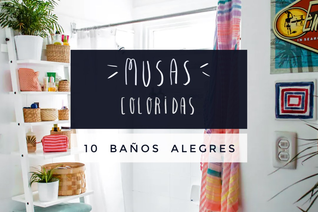 "10 Baños coloridos y alegres, visto en ""I am a Mess Blog"""
