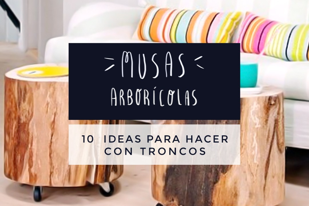 "10 ideas con troncos y rodajas de madera, visto en ""I am a Mess Blog"""
