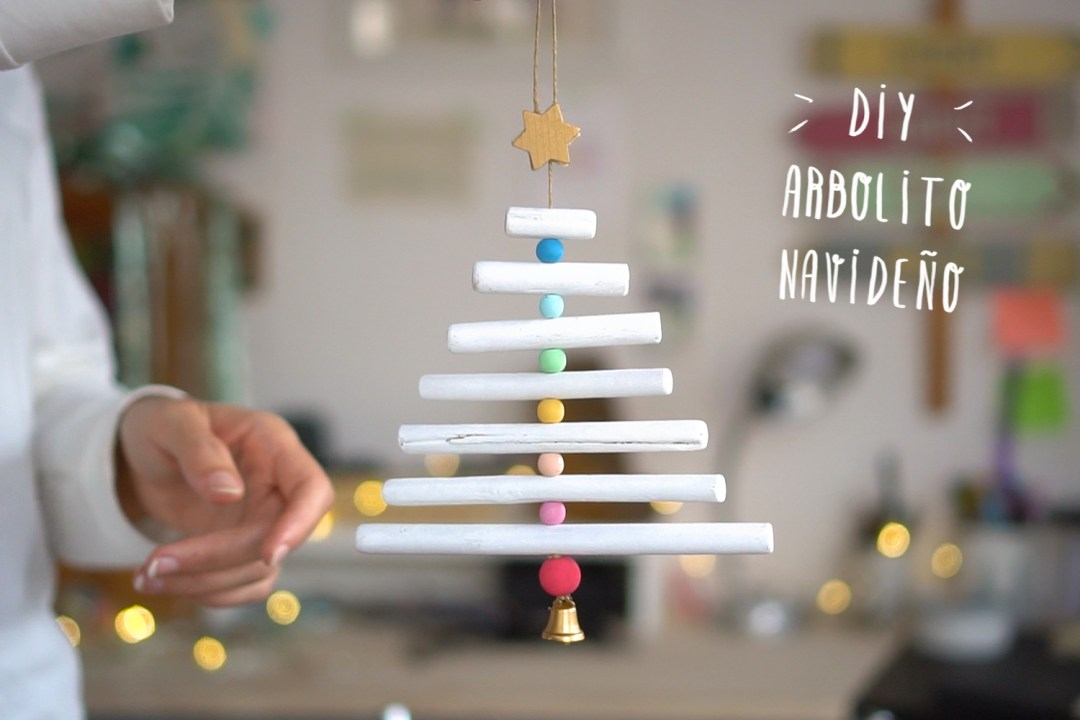 Mini Arbol de navidad DIY, visto en IamaMess blog