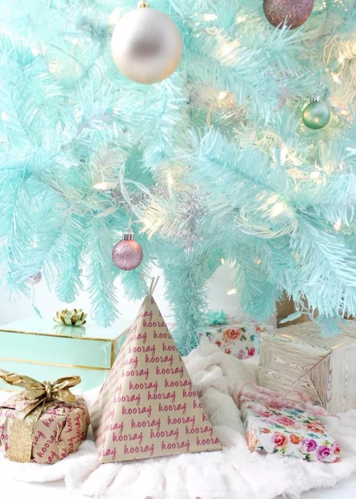 """Inspiración: Árboles de navidad menta. Visto en """"I am a Mess Blog"""""""