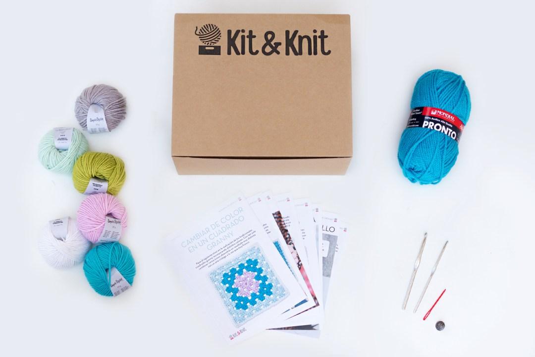 Materiales del Kit de ganchillo de Kit&knit