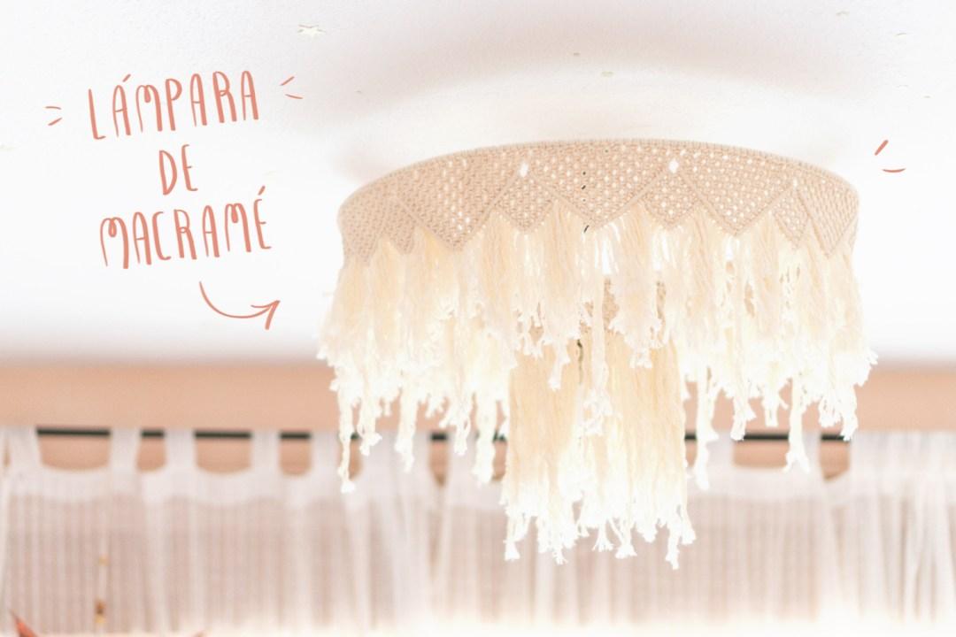 Y se hizo la luz, Mi dormitorio con lámpara de macramé
