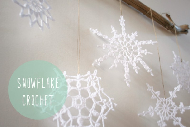 "DIY crochet snowflake, Visto en ""I am a Mess Blog"""