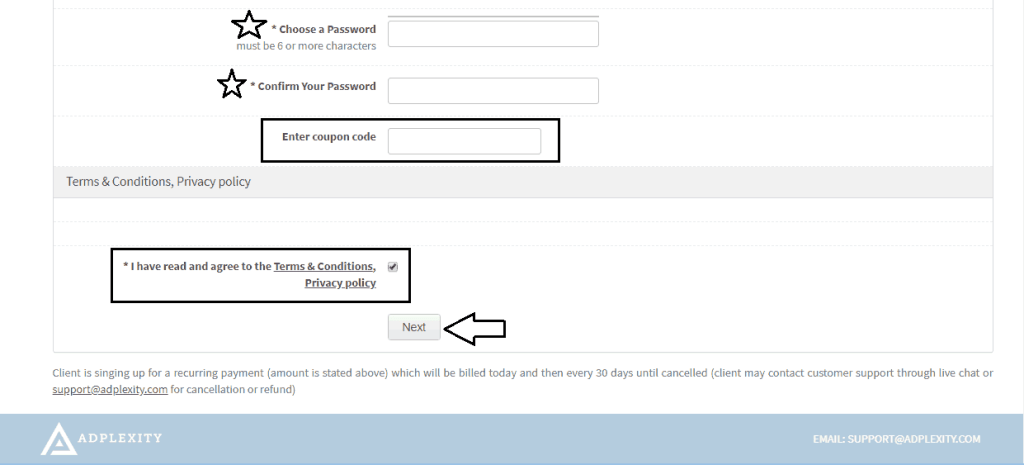 , How to Create An Account on AdPlexity