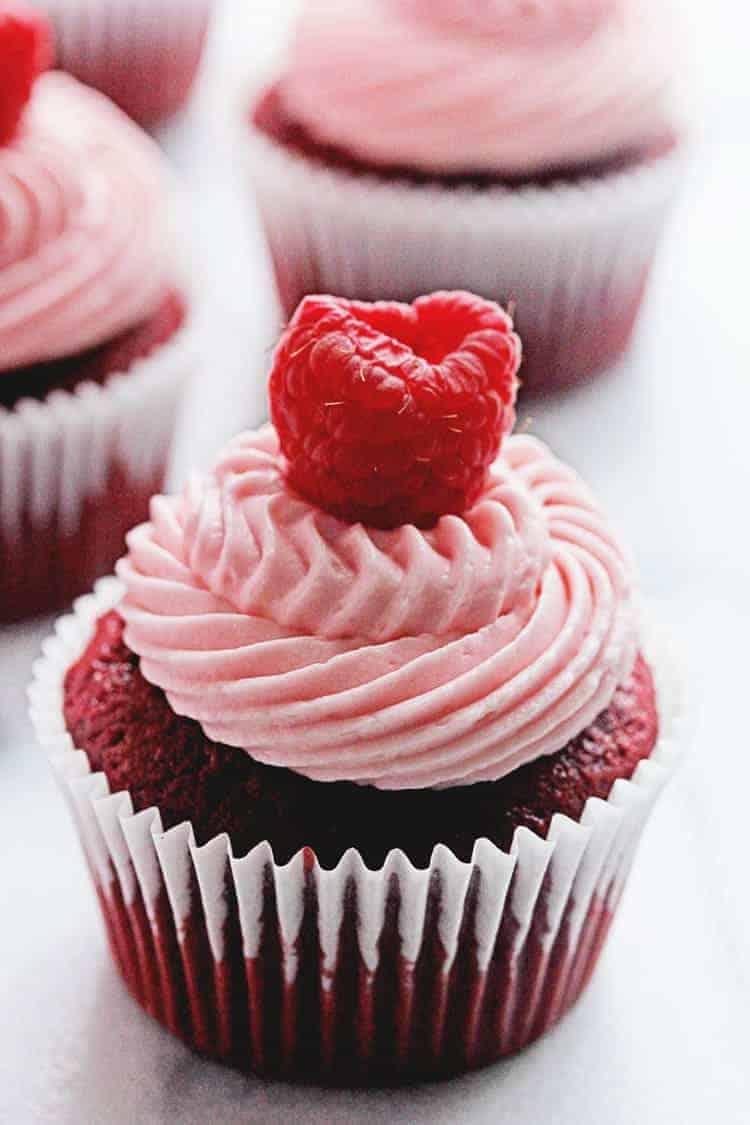Red Velvet Raspberry Cupcakes I Am Baker