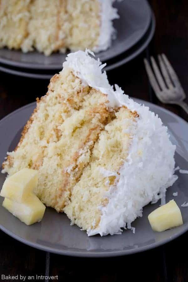 Pineapple Coconut Caked | i am baker