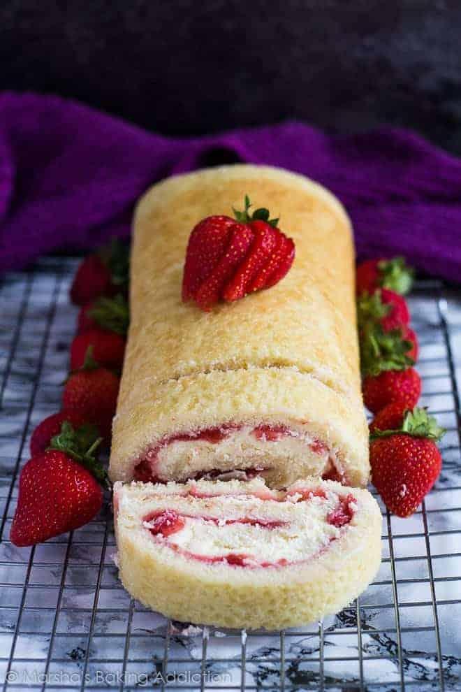 Strawberries And Cream Swiss Roll I Am Baker